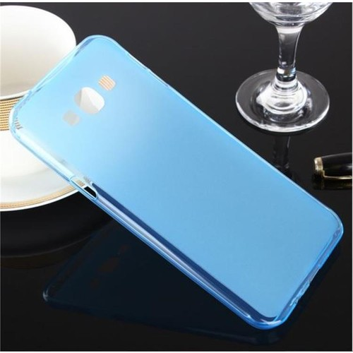 Toptancı Kapında Samsung Galaxy On5 Mavi Şeffaf İnce Silikon Kılıf