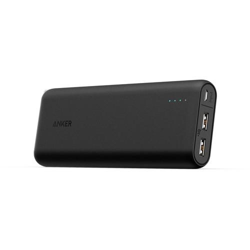 Anker PowerCore 20100 Taşınabilir Şarj Cihazı PowerBank 20000 mAh - 1 Metre Anker Micro Usb Kablosu ve Seyahat Çantası Hediyeli