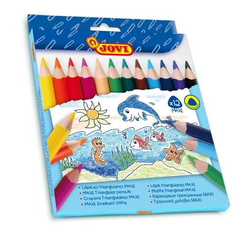 Jovi Maxi 12 Renkli Kuru Boya Seti