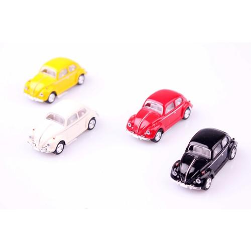 4'lü 1967 Volkswagen Classical Beetle 1/64 Çek Bırak Model Araç Seti