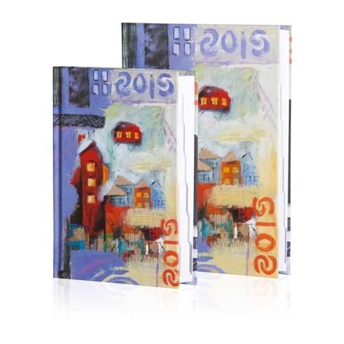 Le Color 10X14 Motley Kuşe Kapaklı Megafon Desenli Ajanda 2017