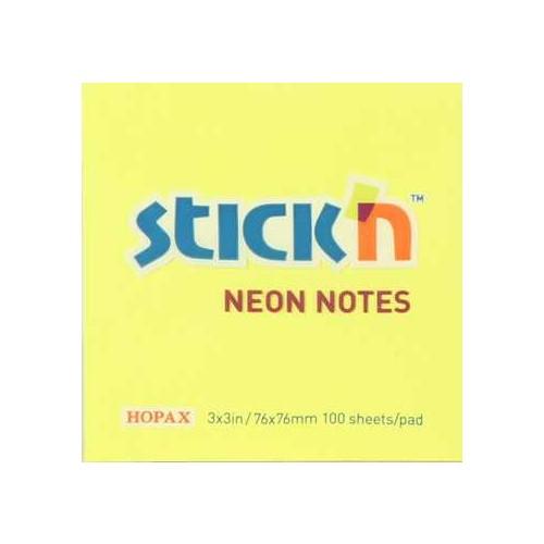 Hopax Neon Yapış. Not Kağıt Renkli 76*76 Mm. 100 Yp Sarı