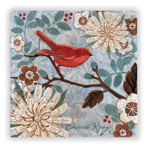 Oscar Stone Birds On Branch Taş Tablo
