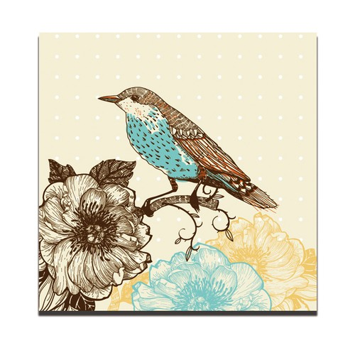 Dolce Home Dekoratif Tablo Kuş Desen Dg1b1k20m2