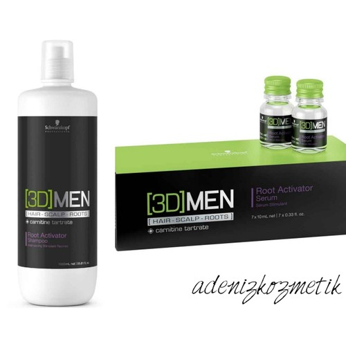 Schwarzkopf 3D Men Dökülme Önleyici Şampuan 1000Ml + Serum 7X10Ml