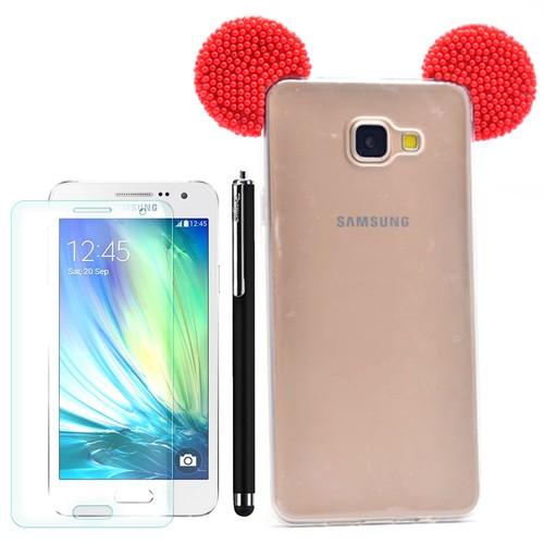 Cep Market Samsung Galaxy A5 2016 Kılıf Micky Silikon + Kalem+ Kırılmaz Cam