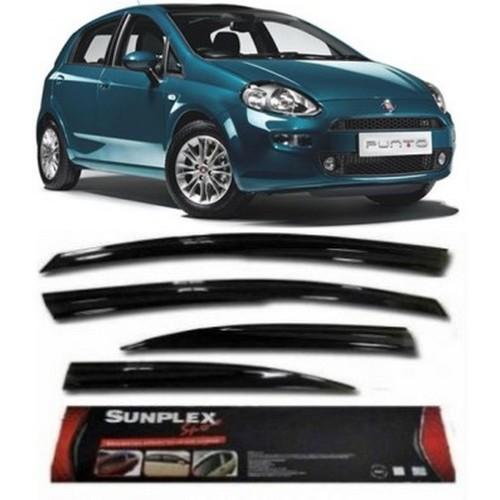 4 Lü Fiat Grande Punto Ön-Arka Sport Style Sunplex Cam Rüzgarlığı