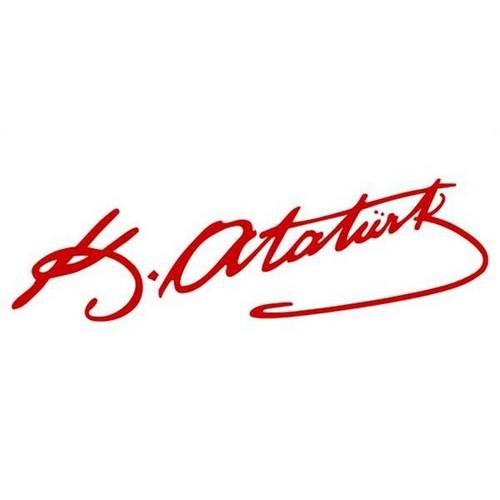 Mustafa Kemal Atatürk İmzası Küçük Boy Kırmızı