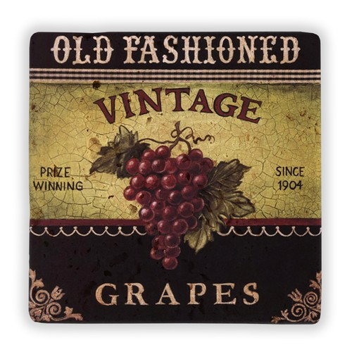 Oscar Stone Old Fashioned Grapes Taş Tablo