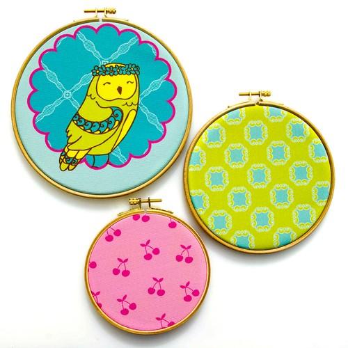 Dolce Home 3Lü Wall Hoops Seti, Kids Sarı Kuş