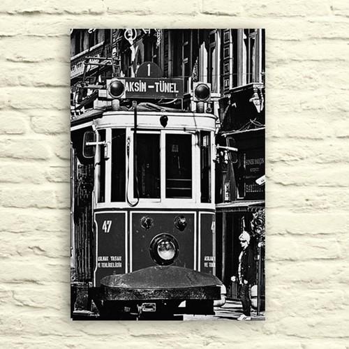 Fotocron Taksim Siyah Beyaz Tablo 24X34 Cm