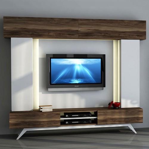 Sanal Mobilya Hayal Tv Ünitesi 1233446 - Leon Ceviz-Parlak Beyaz