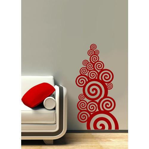 Kırmızı Spiral Duvar Sticker