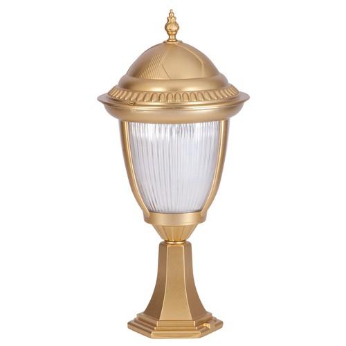 Şanlı Aliminyum Lens Camlı Altın Yaldız Boyalı Fener Set Üstü