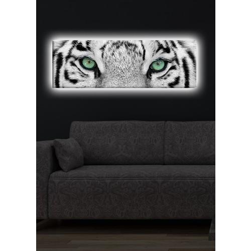 Bengal Kaplanı Arkadan Aydınlatmalı Kanvas Tablo - 30X90 Cm