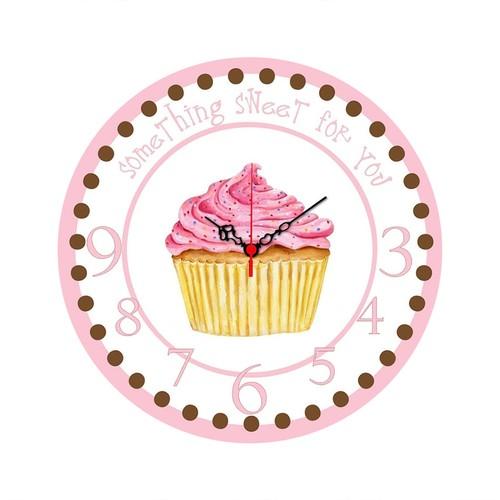 Cupcake Mdf Saat Yuvarlak