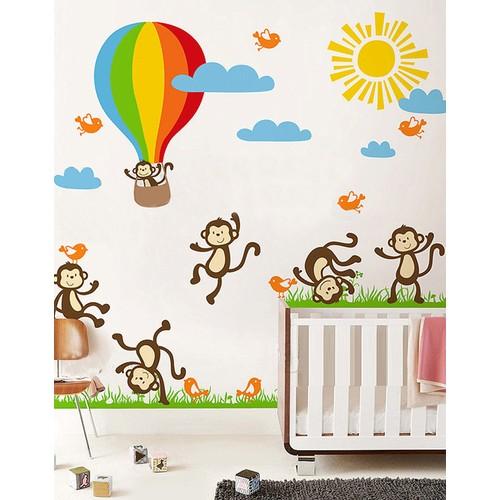 Dekorjinal Sticker Maymunlar - Tsn62