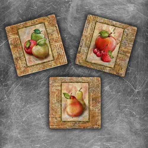 Oscar Stone Fruits Magnet