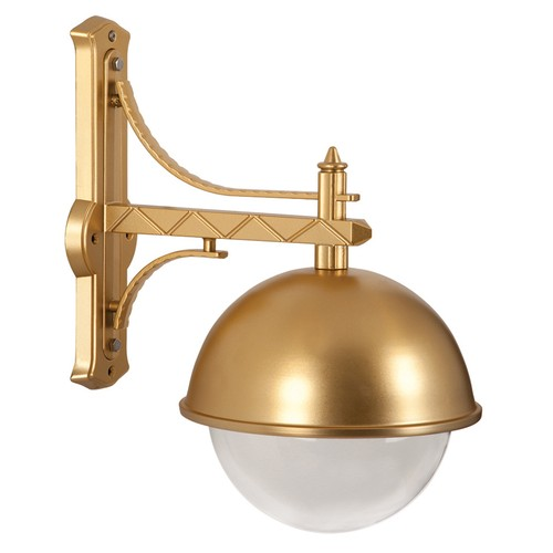 Şanlı Aliminyum Altın Yaldız Boyalı Tas Model Fener Ters Aplik