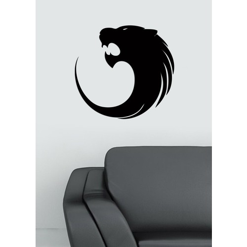 Dekoratif Akrilik Siyah Kurt Desen