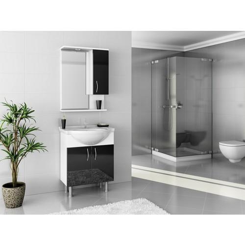 Bestline Auraline Vira 65 Banyo Dolabı - Siyah