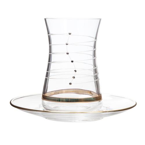 Laliano Helezon Altın Çay Bardağı