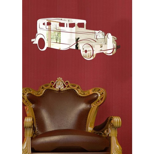 Dekoratif Kırılmaz Ayna Nostaljik Araba