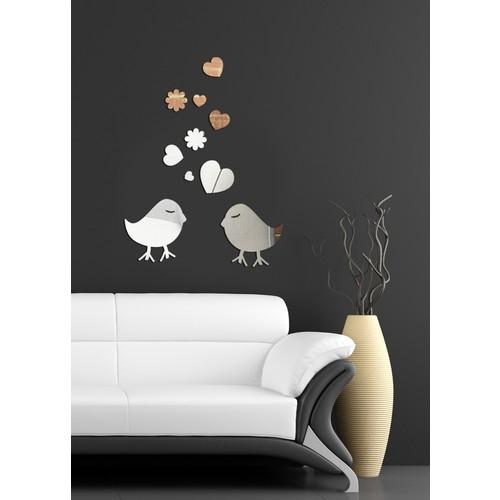 Dekoratif Kırılmaz Kuş Ayna