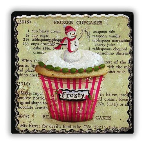 Oscar Stone Frozen Cupcakes Taş Tablo