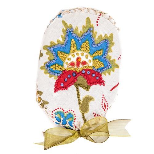NG Hediyelik Eşya Mavi Renkli Çiçek Taş