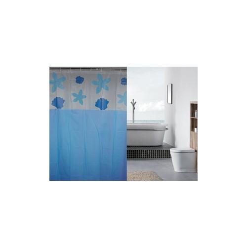 Evmanya Duş Perdesi Mavi İstridye