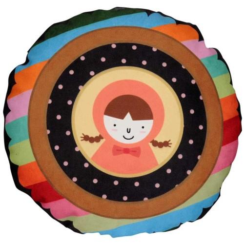 Dolce Home Küçük Kız Yuvarlak Renkli Yastık