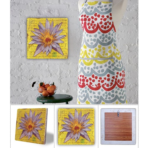 Oscar Stone Lila Çiçek Doğal Taş Tablo - 20X20 Cm