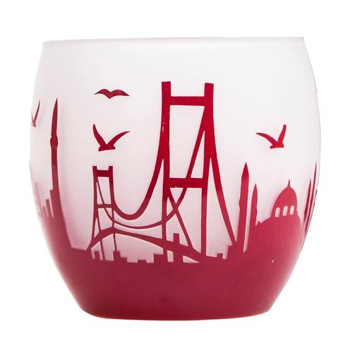 Arte Home Globe İstanbul Bordo Mumluk