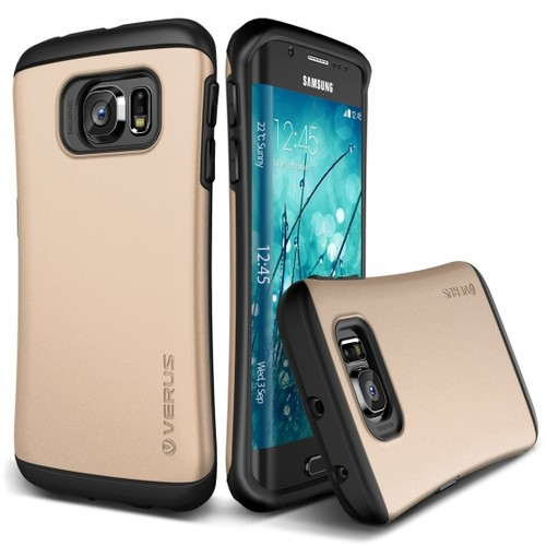 VERUS Samsung Galaxy S6 Edge Kılıf Verus Hard Drop Thor Shine Gold