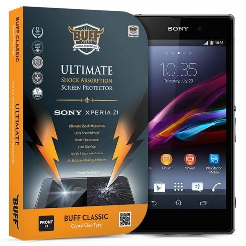 Buff Sony Xperia Z1 Darbe Emici Ekran Koruyucu Film