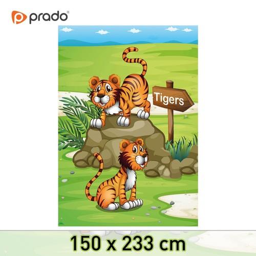 Prado 3D Baskılı Çocuk Halısı Tigers 150x233cm
