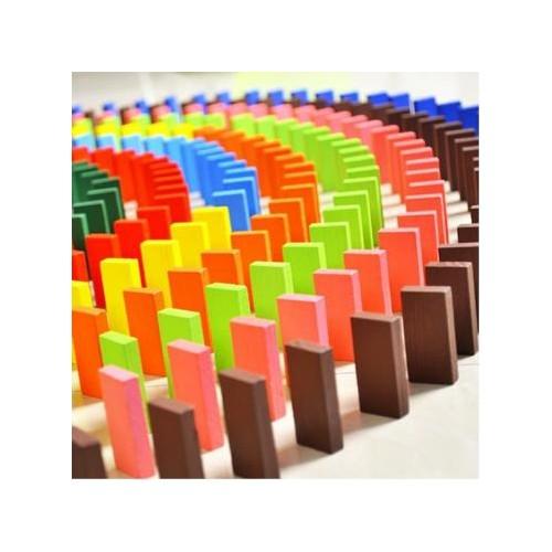 Blueway Ahşap 1000 Parça Domino Taşı Eğlence Oyunu