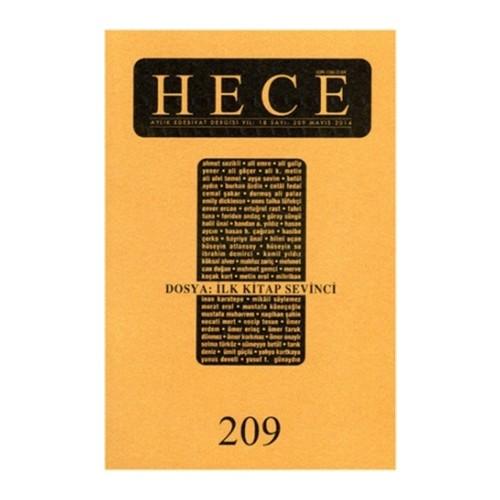 Hece Aylık Edebiyat Dergisi Sayı: 209 / Mayıs 2014