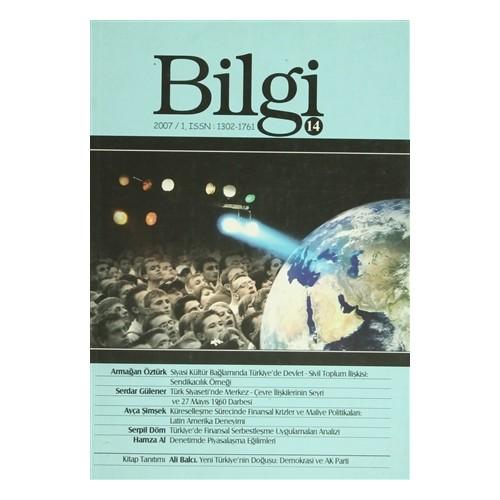 Bilgi Sosyal Bilimler Dergisi Sayı: 14