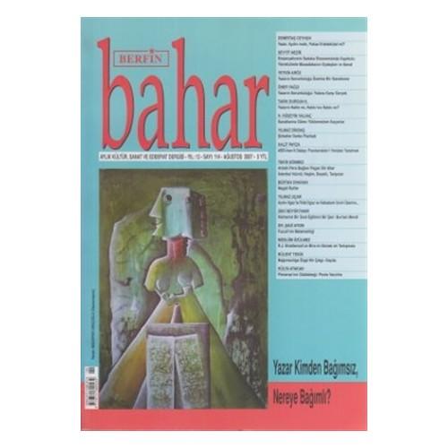 Berfin Bahar Aylık Kültür, Sanat ve Edebiyat Dergisi Sayı : 114