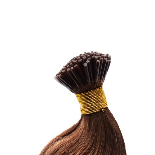 Hairens® 70cm Çikolata Kahverengi Doğal Boncuk Kaynak Saç 0.7gr.