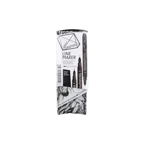 Derwent Graphik Line Maker 3'Lü Set Black Dw2302207