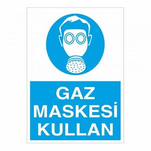 """Modülerteknik """"Gaz Maskesi Kullan"""" 25X35cm"""