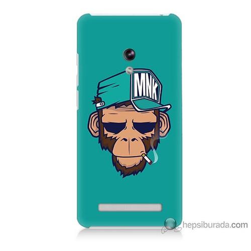 Bordo Asus Zenfone 5 Kapak Kılıf Sakallı Maymun Baskılı Silikon