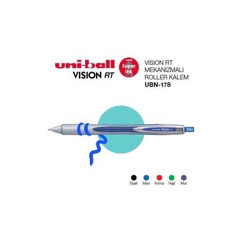 Uni-Ball Ubn-178 Mavi Basmalı Vısıon 0.8 Kalem