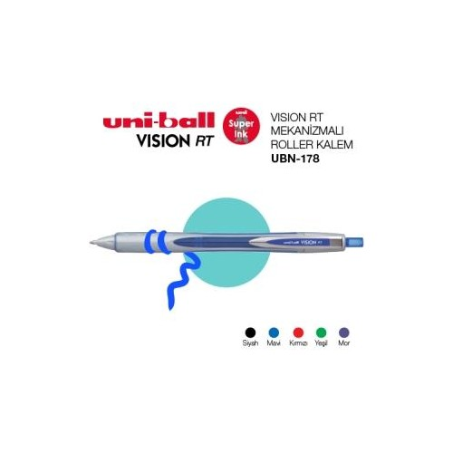 Uni-Ball Ubn-178 Mor Basmalı Vısıon 0.8 Kalem