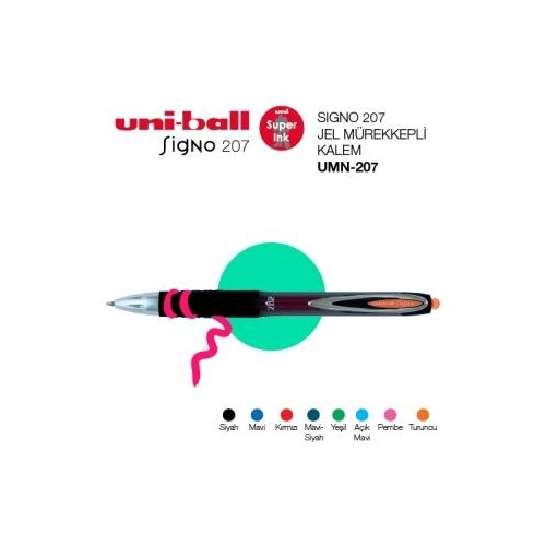 Uni-Ball Umn-207 Açık Mavi Sıgno Kalem