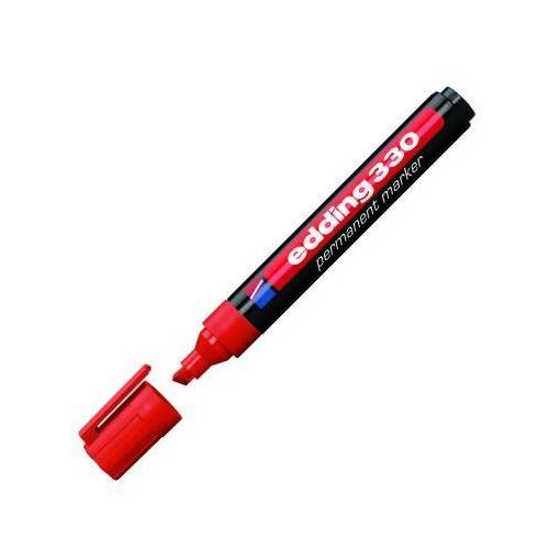 Edding 330 Kırmızı Permanent Kesik Uç Marker Kalem