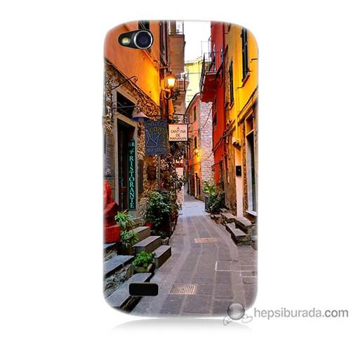 Bordo General Mobile Discovery Kapak Kılıf Sokaklar Baskılı Silikon